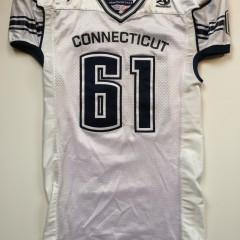 vintage unconn huskies game worn authentic ncaa football jersey