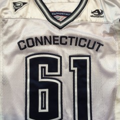 game worn authentic uconn huskies ncaa football jersey