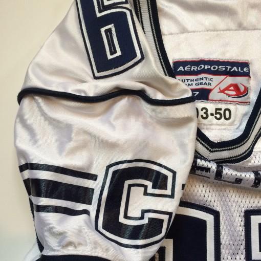 uconn huskies game worn authentic ncaa football jersey