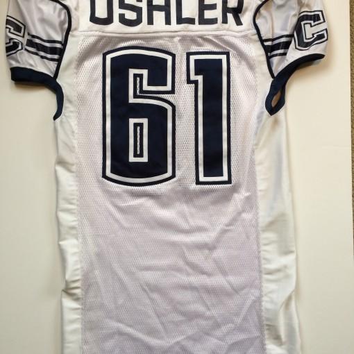 game worn ushler uconn huskies authentic ncaa football jersey