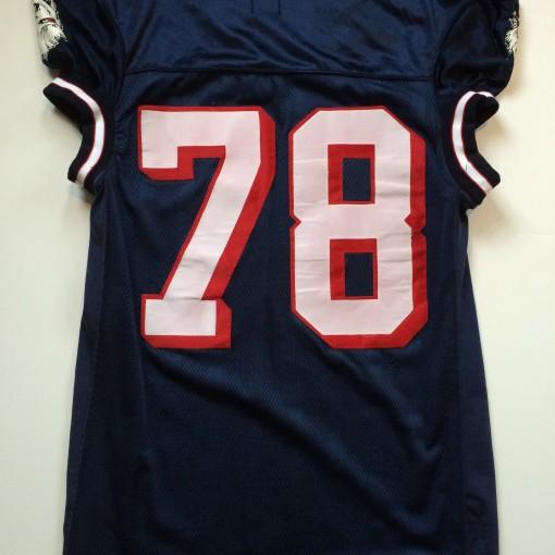 uconn huskies #78 navy game worn ncaa football jersey