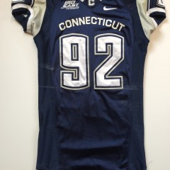 authentic nike game worn uconn huskies 2007 ncaa football jersey #92