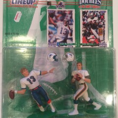 1997 bob griese dan marino starting lineup classic doubles toy set