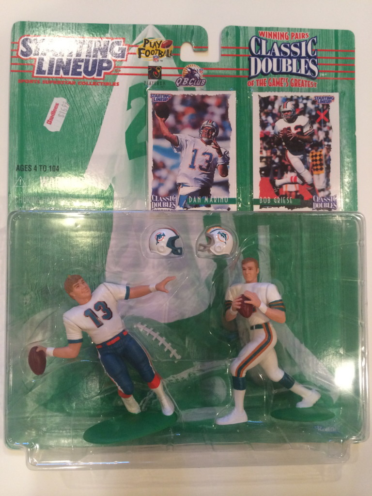 bc87cd8d 1997 Bob Griese & Dan Marino Miami Dolphins Starting Lineup Classic Doubles