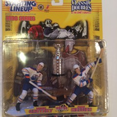 wayne gretzky mark messier edmonton oilers kenner hasbro starting lineup classic doubles stanley cup set