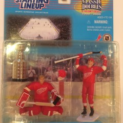 detroit redwings stanley cup starting lineup classic doubles toy set 1999-2000