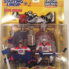 patrick roy john leclair montreal canadiens starting lineup classic doubles nhl toy set