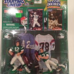 joe namath don maynard new york jets starting lineup toy set