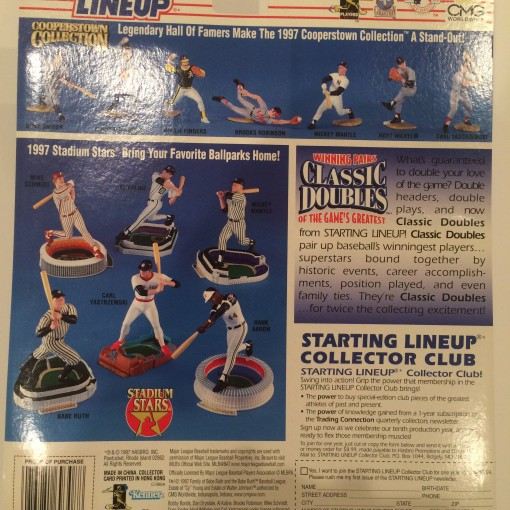 kenner hasbro starting lineup classic doubles toy package back