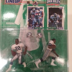 tony dorsett emmitt smith dallas cowboys starting lineup classic doubles toy set