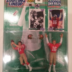 dwight clark joe montana san francisco 49ers starting lineup classic dobules set the catch
