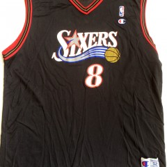 vintage aaron mckie philadelphia 76ers champion jersey