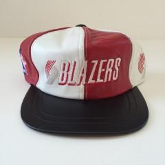 Vintage Portland Trailblazers genuine leather nba snapback hat