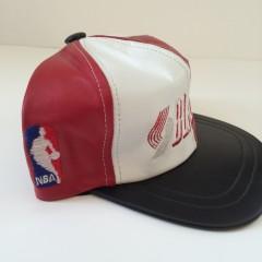 vintage portland trailblazers leather nba snapback hat