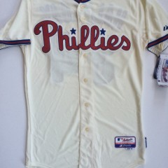 vintage philadelphia phillies roy halladay cream colored alternate mlb jersey size 40