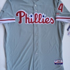 authentic philadelphia phillies roy halladay majestic mlb jersey size 52