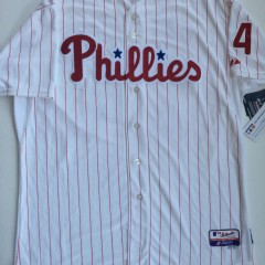 authentic roy halladay philadelphia phillies majestic white home jersey size 52