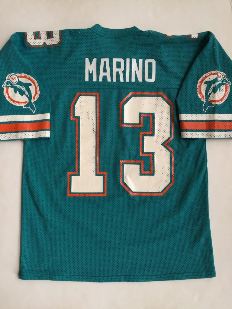 buy popular 782d2 f55ac 1984-85 Dan Marino Miami Dolphins Sandknit NFL Jersey Size XL