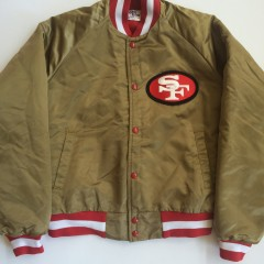 san francisco 49ers vintage chalkline satin nfl jacket size medium