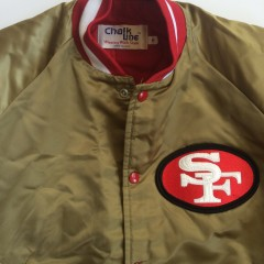 san francisco 49ers chalkline satin nfl jacket