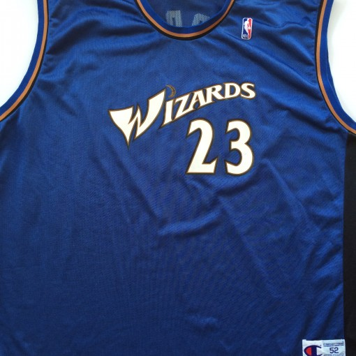 michael jordan washington wizards throwback jersey size XXL 52