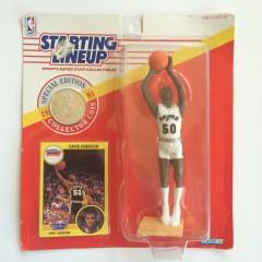 vintage david robinson san Antonio Spurs starting lineup toy 1990
