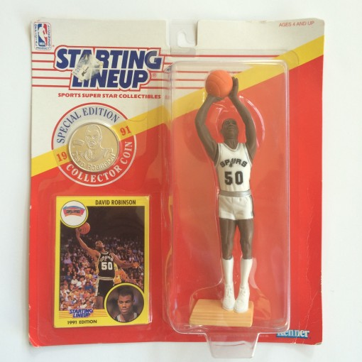 vintage david robinson san Antonio Spurs starting lineup toy 1990