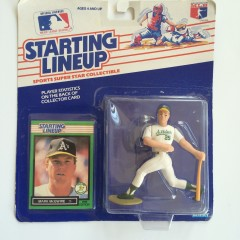 1989 mark mcgwire oakland a's starting lineup toy