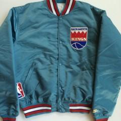 vintage sacramento kings starter satin jacket size large