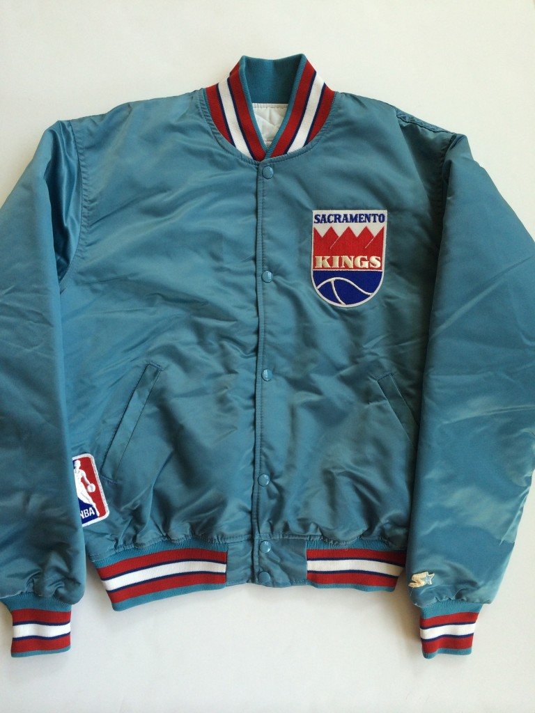 vintage sacramento kings starter satin nba jacket size. Black Bedroom Furniture Sets. Home Design Ideas