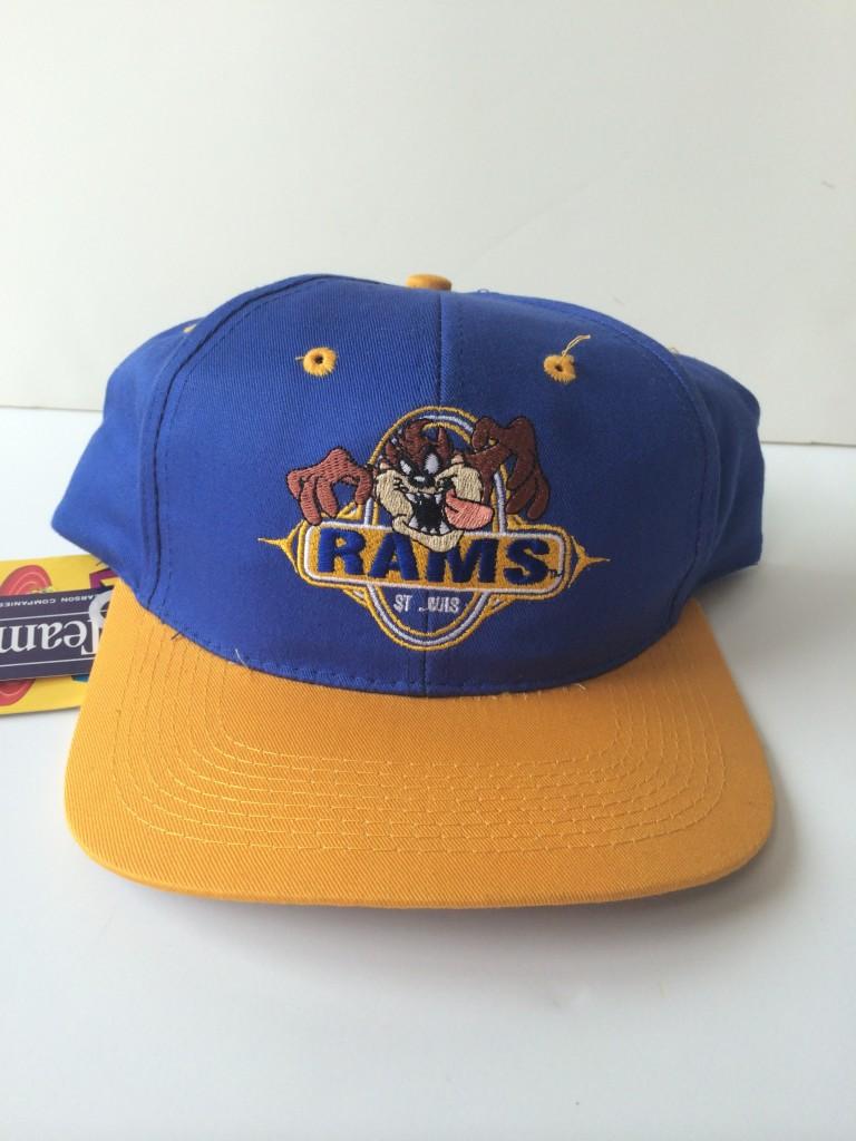 081bb943c5b Vintage St. Louis Rams Taz Looney Tunes NFL Snapback Hat