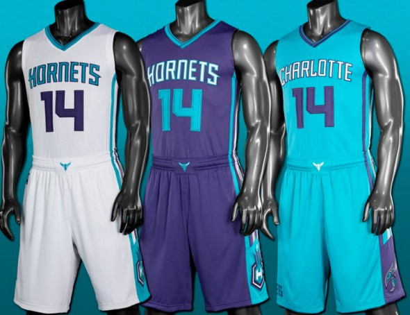Charlotte Hornets New NBA Uniforms 2014-2015