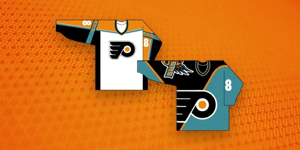 1996 Philadelphia flyers unused third jerseys
