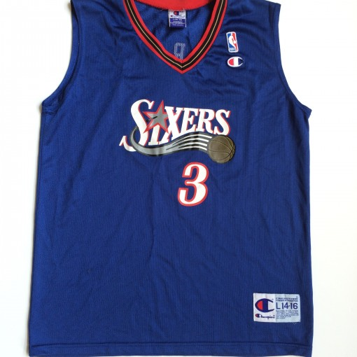 sixers iverson blue alternate champion nba jersey