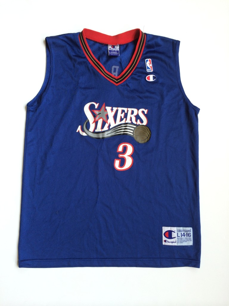 uk availability b0048 c3cff 2002 Allen Iverson Philadelphia Sixers Alternate Champion NBA Jersey Youth  Large
