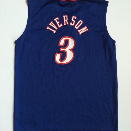 vintage iverson champion sixes blue jersey