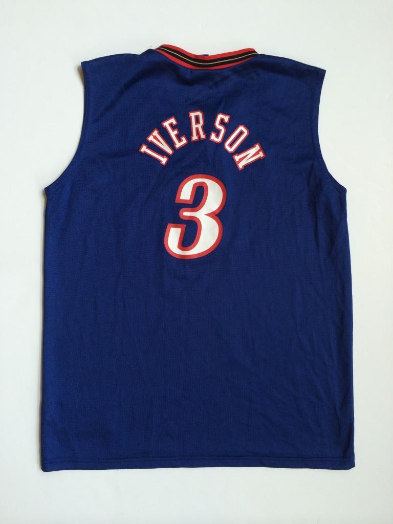 uk availability e39b0 94f67 2002 Allen Iverson Philadelphia Sixers Alternate Champion NBA Jersey Youth  Large