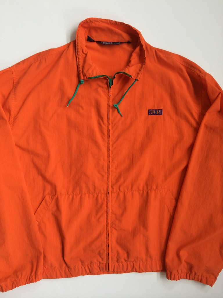 Vintage 90 s polo ralph lauren orange polo sport jacket for Polo shirt with sport coat