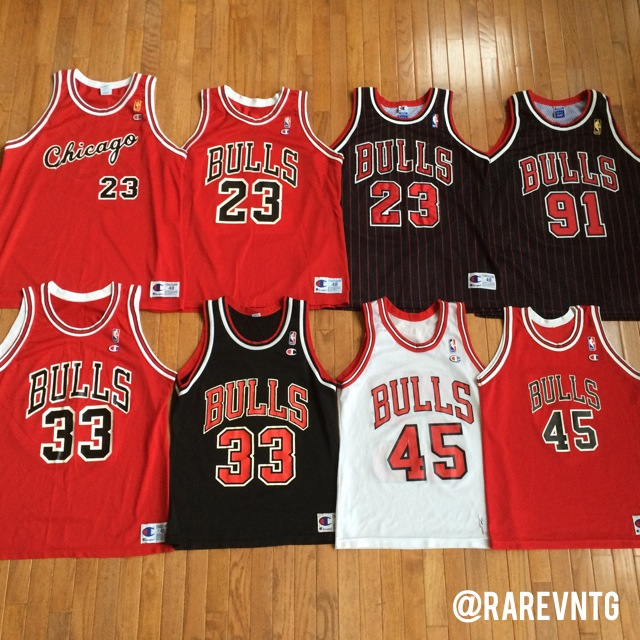 vintage chicago bulls authentic champion nba throwback jerseys
