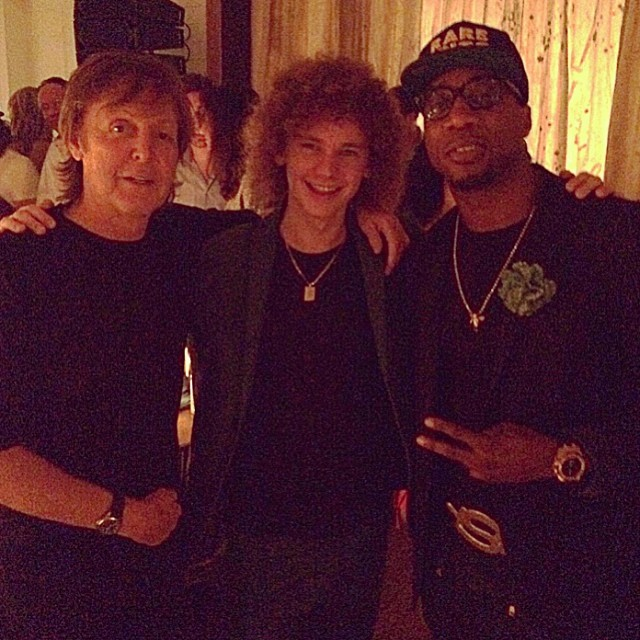 Frank, Paul McCartney & Francesco Yates