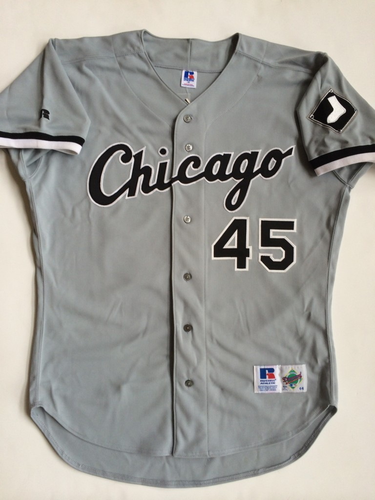 jordan white sox vintage russell jersey