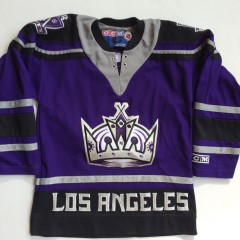 los angeles kings vintage ccm purple alternate jersey