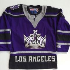 los angeles kings vintage ccm purple alternate jersey