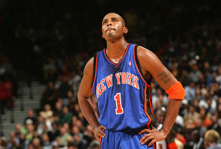 Penny sporting the New York Knicks Blue road jersey from 2004-2006