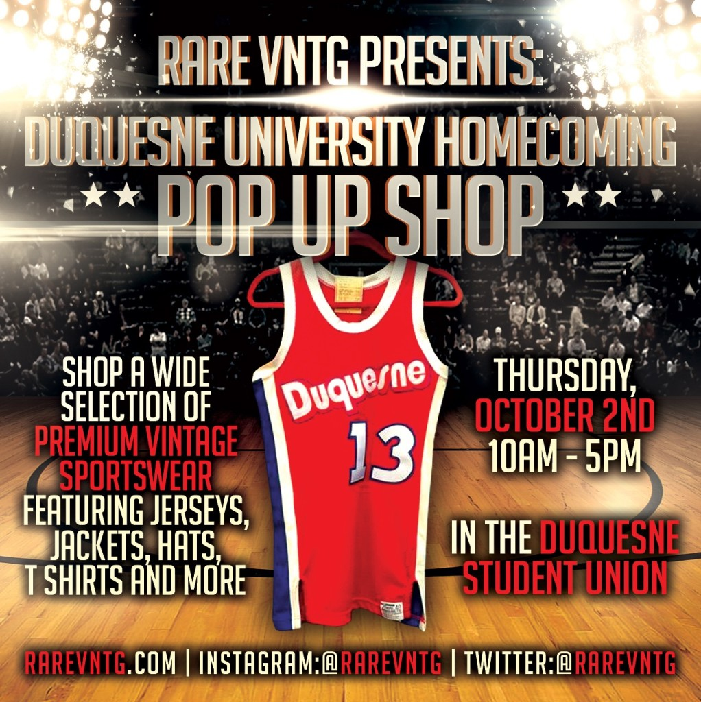 Rare VNTG Duquesne University Homecoming 2014 Pop Up Shop