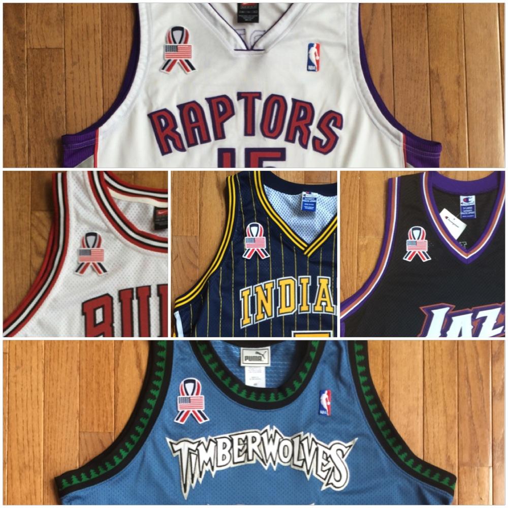 2001 9/11 NBA Unity jersey patch