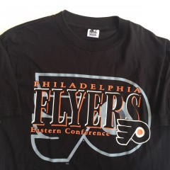 90's throwback philadelphia flyers starter nhl t shirt