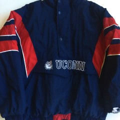 vintage uconn huskies ncaa starter jacket xl