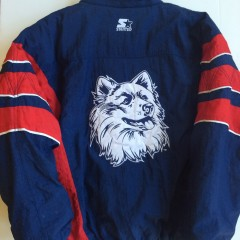 University of Connecticut Huskies starter ncaa pullover jacket