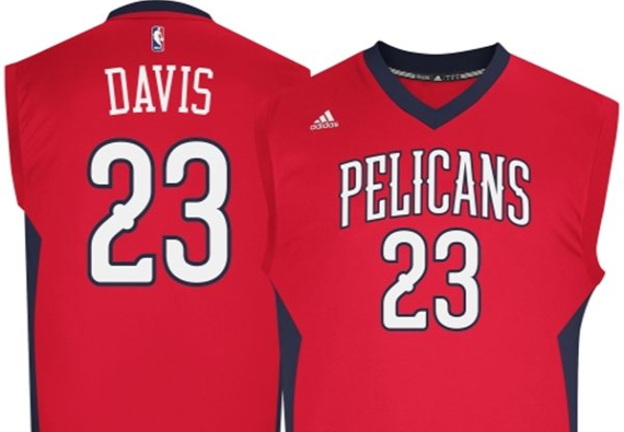New Orleans Pelicans 2014-15 Red Alternate NBA Jersey